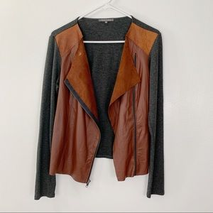 Michael Stars 100% leather front jacket